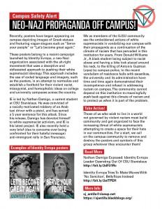 Info flyer on Identity Evropa